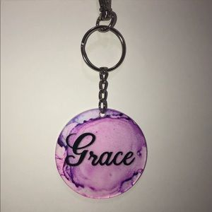 Hand painted, personalized keychains